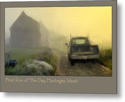 First Run Of The Day, Monhegan Island  Metal Print by Dave Higgins