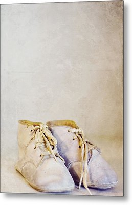 First Shoes - Color Metal Print