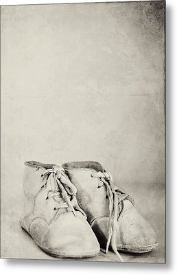 First Shoes Metal Print