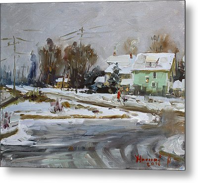 First Snow For This Winter Metal Print