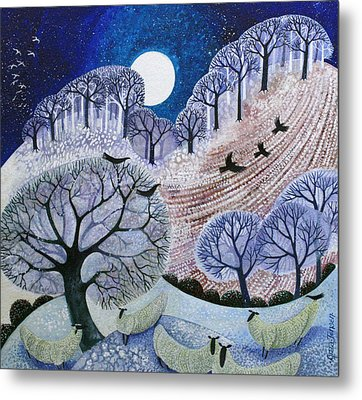 First Snow Surrey Hills Metal Print