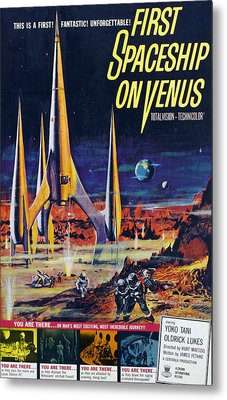 First Spaceship On Venus, Poster, 1962 Metal Print by Everett