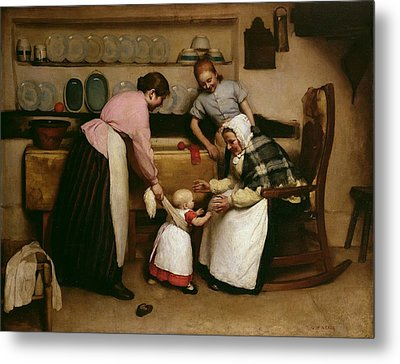 First Steps Metal Print by George Hall Neale