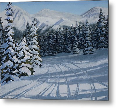 First Tracks Metal Print by Mary Giacomini