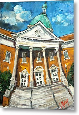 First United Methodist Church Athens Al Metal Print by Carole Foret