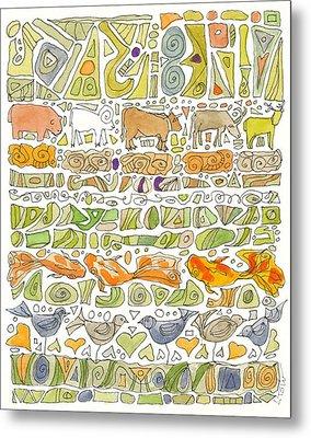 Fish And Fowl Metal Print by Linda Kay Thomas