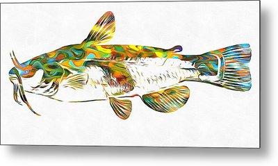 Fish Art Catfish Metal Print by Dan Sproul