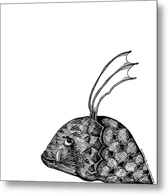 Fish Beast Metal Print by Karl Addison