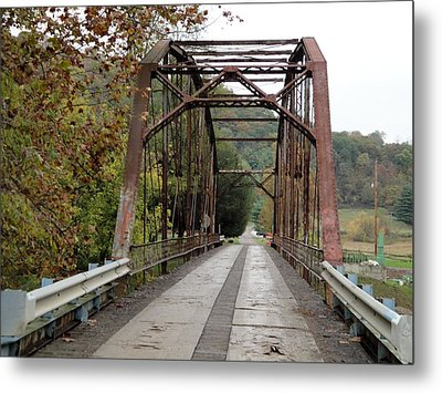 Fish Creek Bridge Metal Print by Terry  Wiley