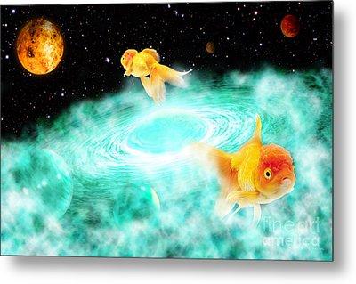 Metal Print featuring the digital art Zen Fish Dream by Olga Hamilton