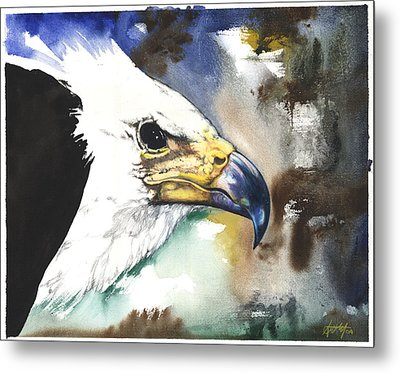 Metal Print featuring the mixed media Fish Eagle II by Anthony Burks Sr