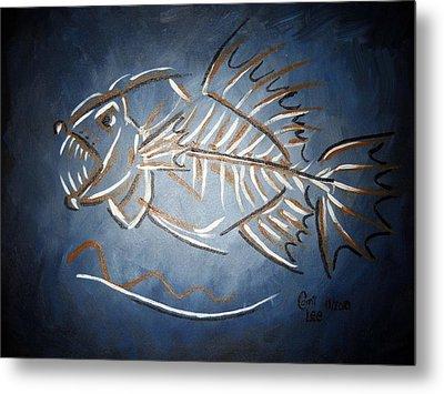 Fish Head Metal Print