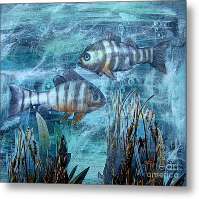 Fish In Icy Water Metal Print by Patricia Januszkiewicz