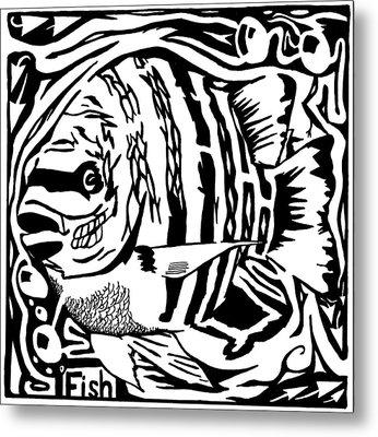 Fish Maze Metal Print by Yonatan Frimer Maze Artist