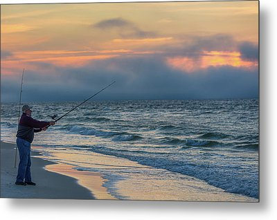Metal Print featuring the photograph Fish On In Alabama  by John McGraw