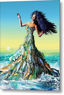 Fish Queen Metal Print