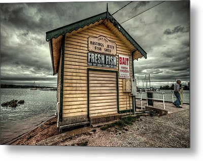 Fish Shed Metal Print by Wayne Sherriff