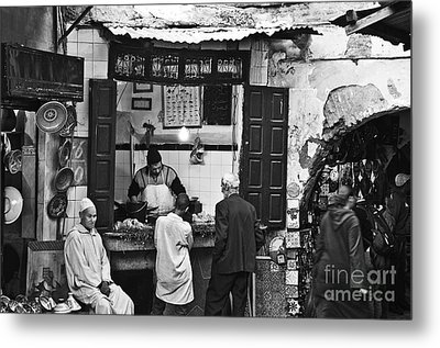 Fish Shop Metal Print by Marion Galt