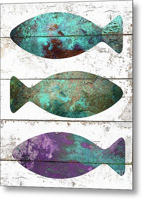 Fish Tales II Metal Print by Mindy Sommers