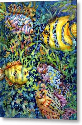 Fish Tales Iv Metal Print by Ann  Nicholson