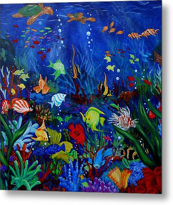 Fish You Dont Feed Metal Print by Nora Niles