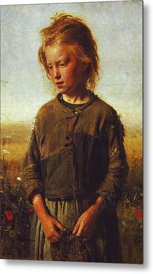 Fisher Girl Metal Print by Ilya Efimovich Repin