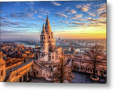 Metal Print featuring the photograph Fisherman's Bastion In Budapest by Shawn Everhart