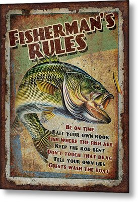 Fisherman's Rules Metal Print