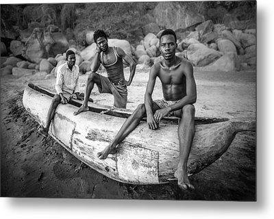 Fishermen Metal Print by Carlos German Romero