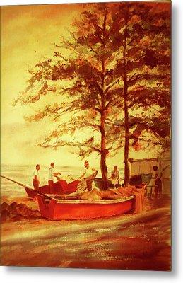 Fishermens Sunset Metal Print by Estela Robles