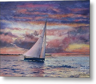 Harbor Sunset Metal Print
