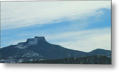 Metal Print featuring the photograph Fishers Peak Raton Mesa In Snow by Christopher Kirby