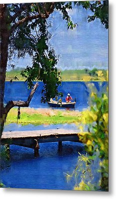 Metal Print featuring the photograph Fishin by Donna Bentley