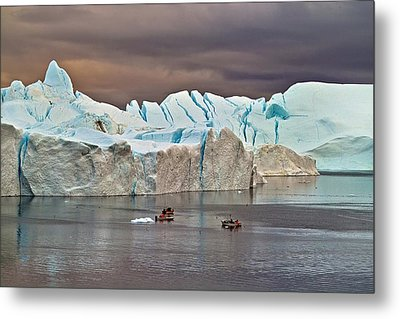 Fishing Among Giants Metal Print by Robert Lacy