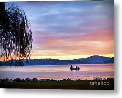 Metal Print featuring the photograph Fishing At Sunrise - Claytor Lake State Park by Kerri Farley