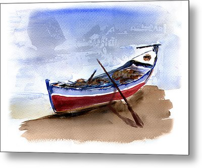 Fishing Boat Metal Print by Anselmo Albert Torres