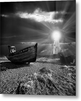 Metal Print featuring the photograph Fishing Boat Graveyard 7 by Meirion Matthias