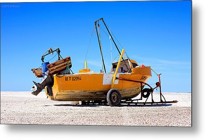 Metal Print featuring the photograph Fishing Boat by Silvia Bruno