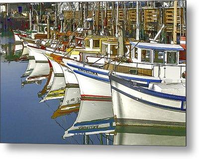 Fishing Boats At Fisherman's Wharf Metal Print
