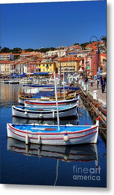 Metal Print featuring the photograph Fishing Boats In Cassis by Olivier Le Queinec