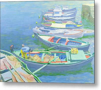 Fishing Boats Metal Print by William Ireland