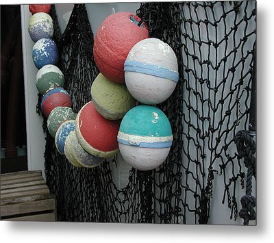 Metal Print featuring the photograph Fishing Buoys by Nancy Taylor