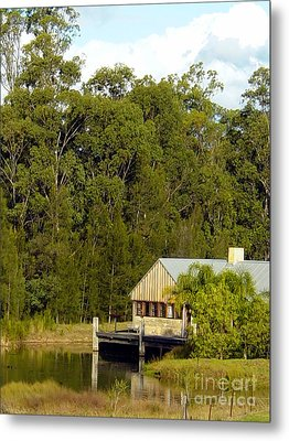 Fishing Cabin Metal Print