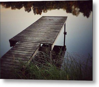 Fishing Dock Metal Print by Karen Stahlros