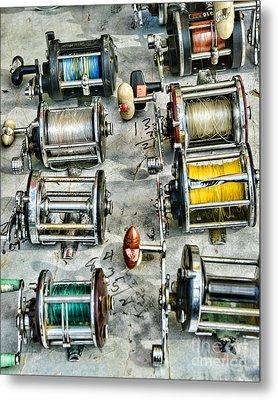 Fishing - Fishing Reels Metal Print by Paul Ward