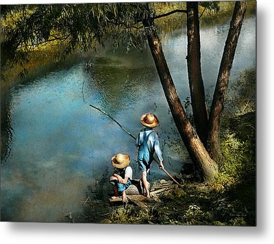 Fishing - Gone Fishin' - 1940 Metal Print