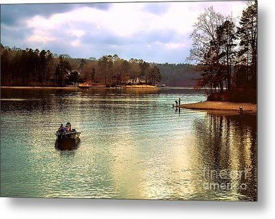 Metal Print featuring the photograph Fishing Hot Springs Ar by Diana Mary Sharpton