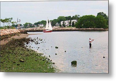 Fishing In Connecticut Metal Print