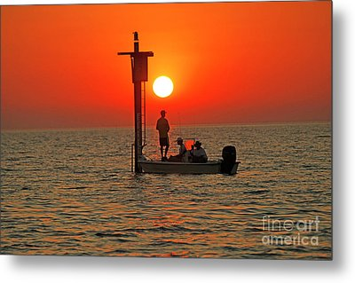Fishing In Lacombe Louisiana Metal Print