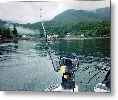Fishing   In Se Alaska Metal Print by Judyann Matthews